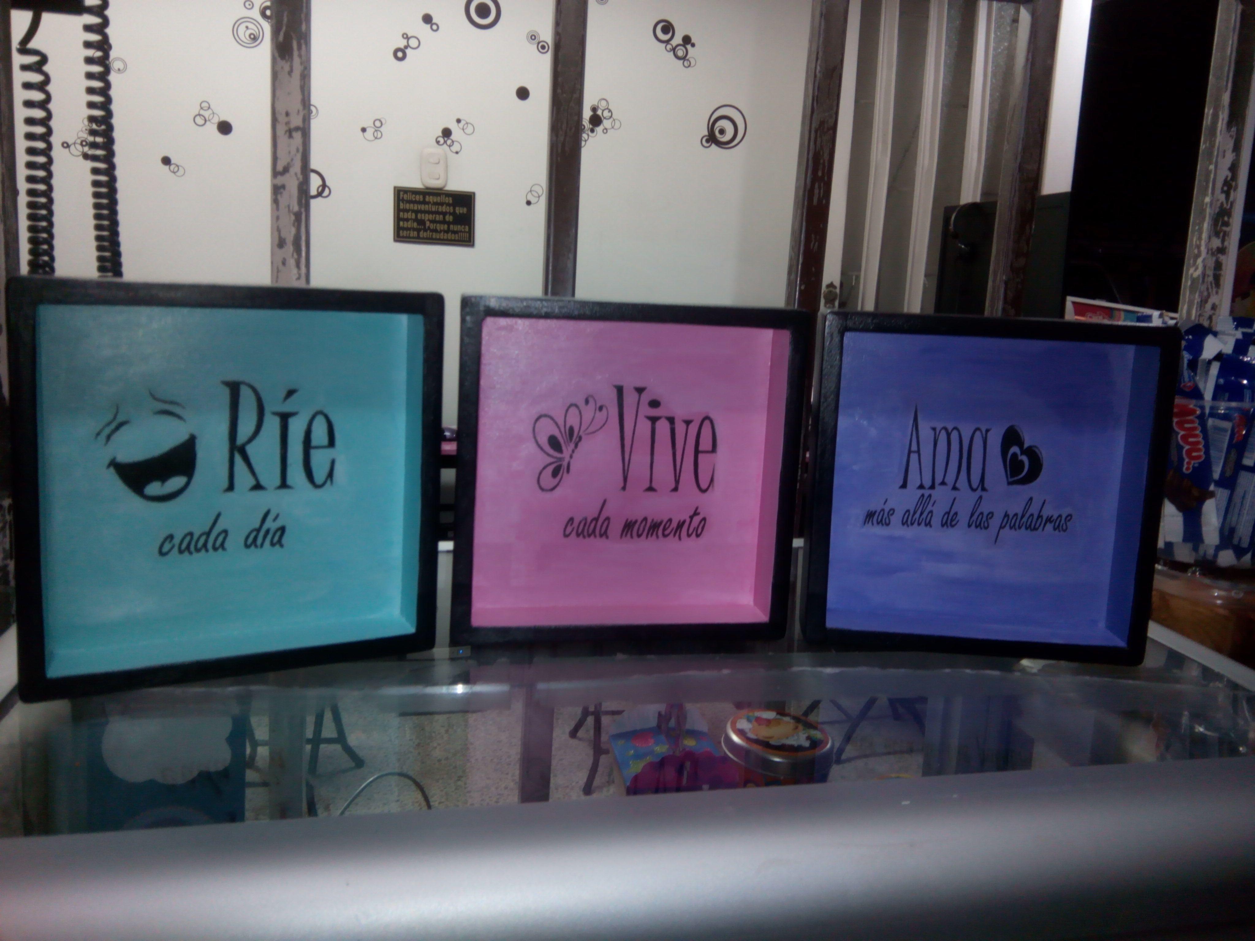 Rie Vive Ama Retablos En Madera Pinterest Re R Vivir  # Muebles Hojillados