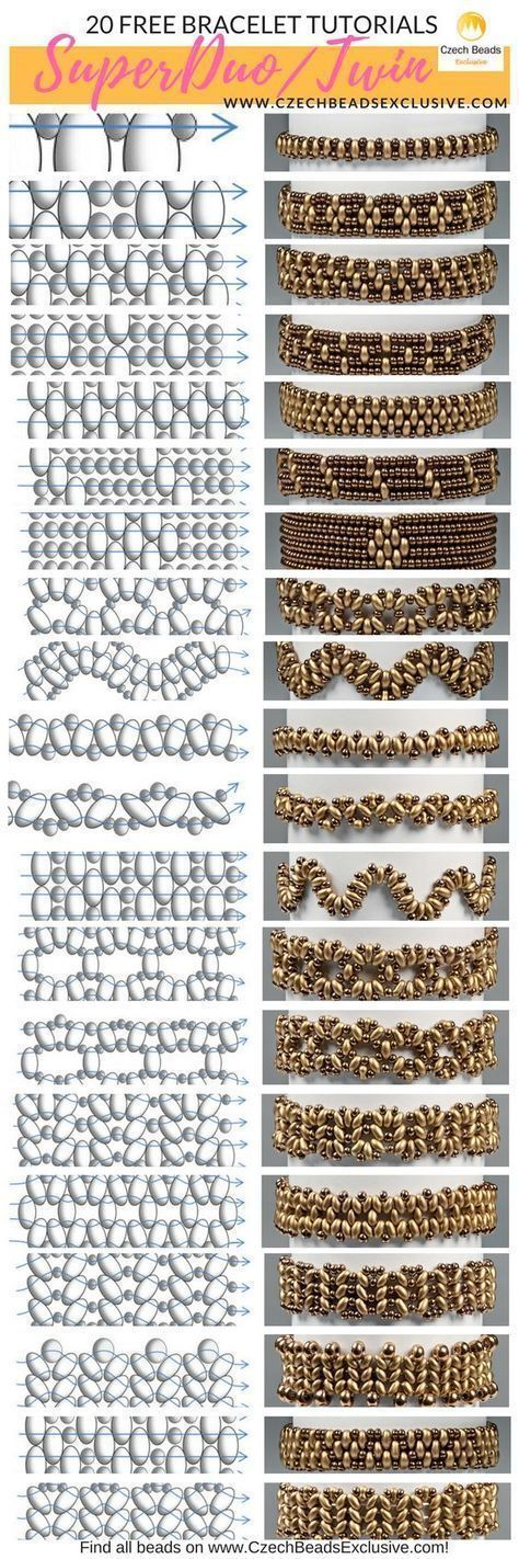 Photo of Czech Glass SuperDuo or Twin Beads – 20 Easy Bracelet Techniques! – Free Tutoria…