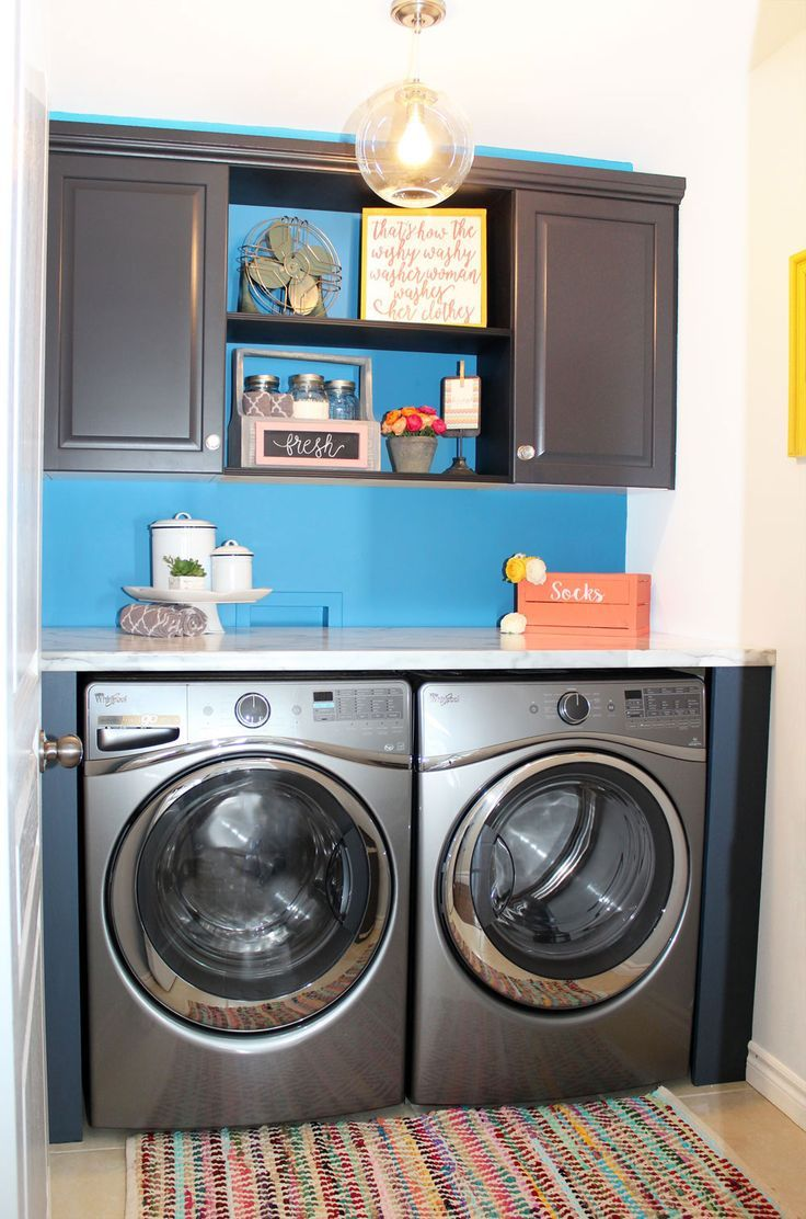 The Big Reveal- Simple Laundry Room Ideas   Laundry rooms, Laundry ...