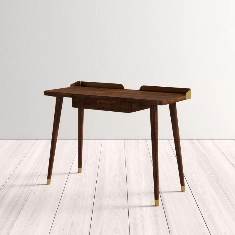 Miko Desk Office Furniture Modern Walnut Writing Desk Solid Wood Writing Desk