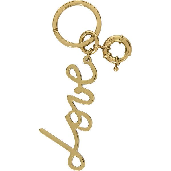 Lanvin Love gold-tone keychain (€210) ❤ liked on Polyvore featuring bags, handbags, tote bags, gold, white purse, clasp purse, lanvin, white bags and lanvin purse