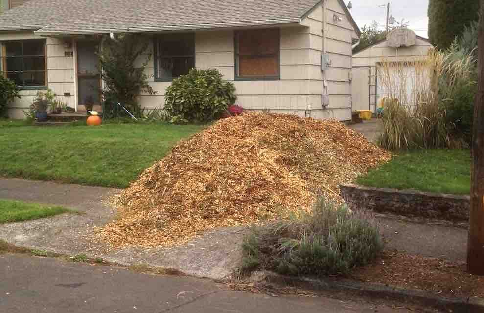 Expectations of service chip drop wood chip mulch