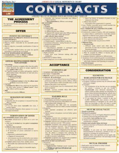 Quick Study Law Contracts by Inc BarCharts $495 Series