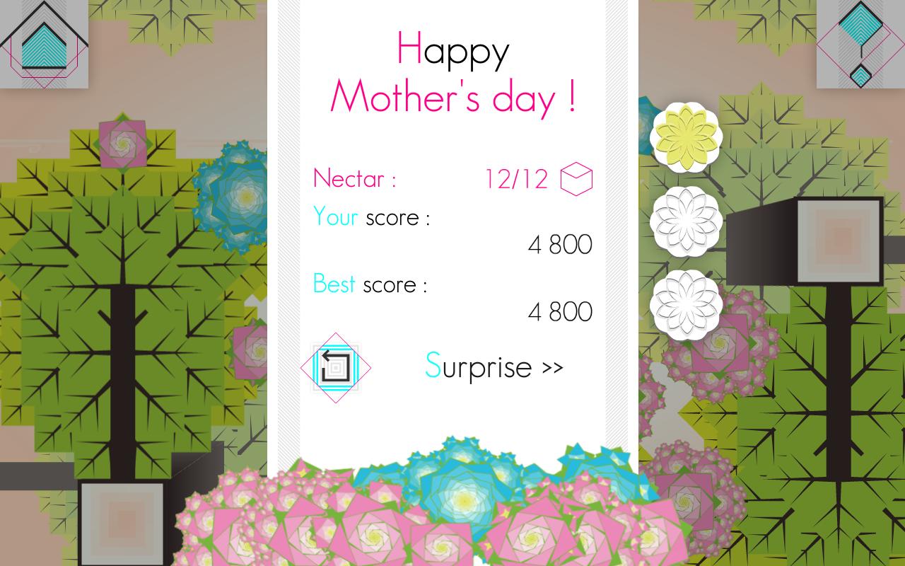 Reward screen : harvest of the nectar complete, Happy Mother's Day ;)