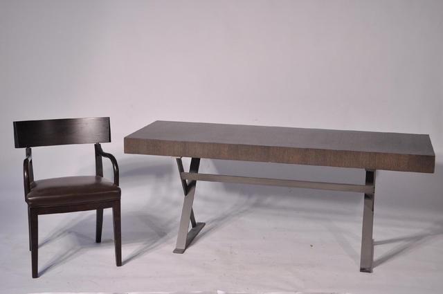Maxalto bureau plat en bois de placage il ouvre à deux petits