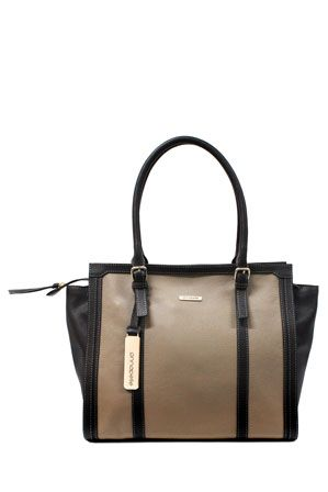 Annapelle Buckle Handle Tote In Taupe Apc005