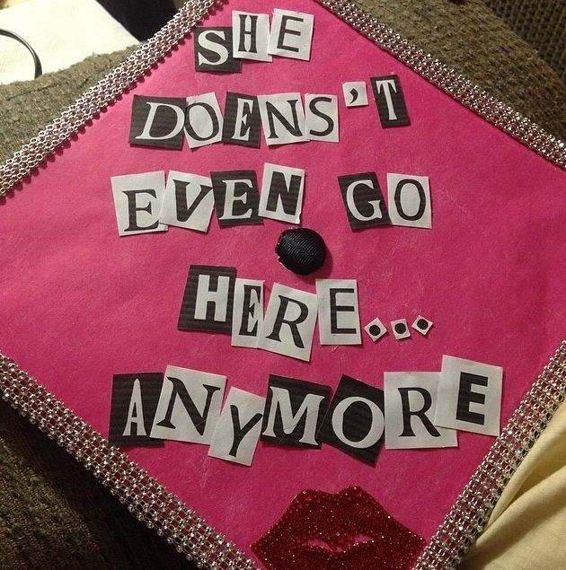 Graduation Cap Clever Girl: Mean Girls Cap ('doesn't' Is Spelled Wrong But You Get The