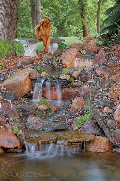 Gallery of back yard waterfalls pond pictures waterfalls for Yard ponds and waterfalls