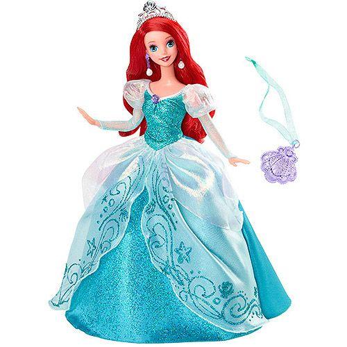 Disney Princess Holiday Princess Ariel Doll Walmart Com Barbie Princess Disney Barbie Dolls Princess Toys