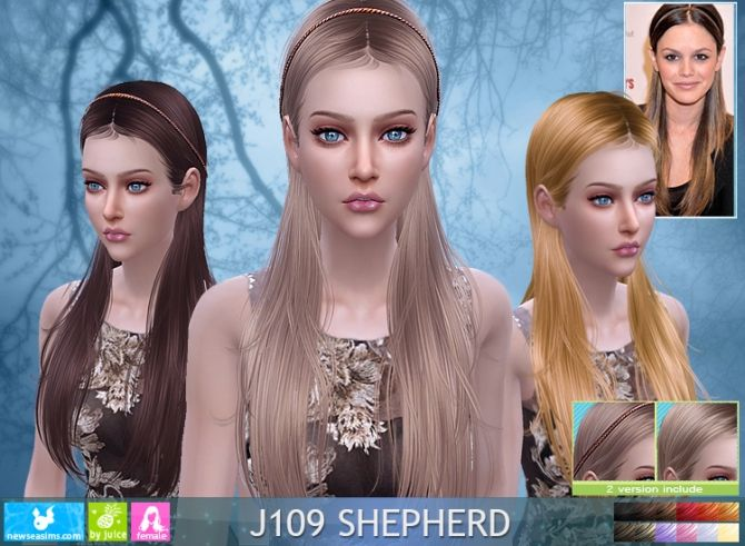 J109 Shepherd hair (Pay) at Newsea Sims 4 • Sims 4 Updates