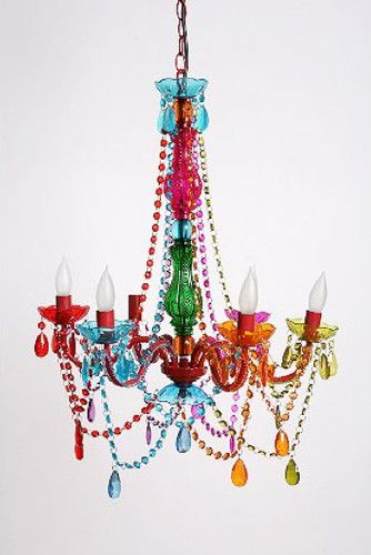 Rainbow colored gypsy chandelier large by urban outfitters the rainbow colored gypsy chandelier large by urban outfitters aloadofball Images