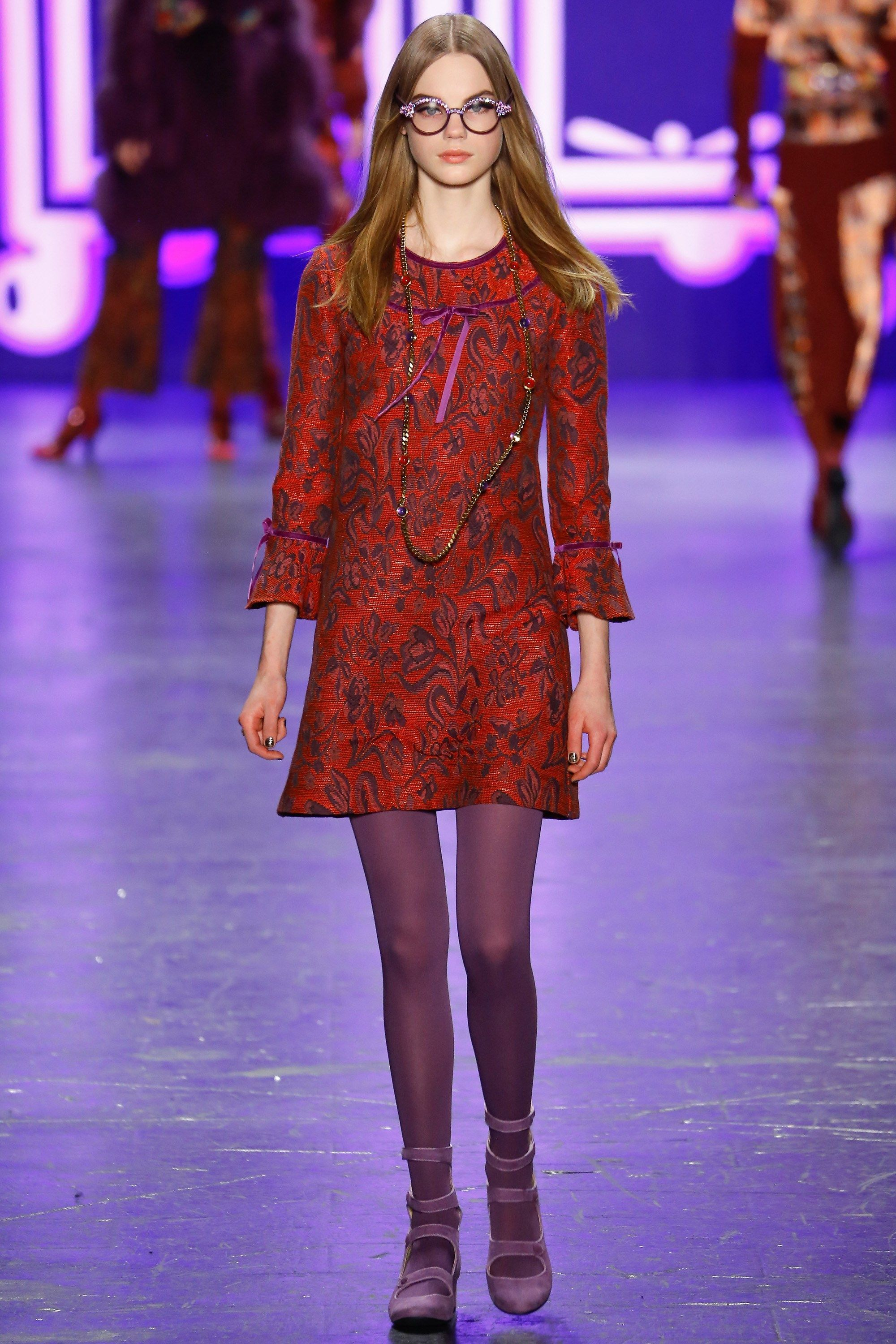 ba5fd44302d Look 4 Anna Sui Autumn Winter 2016 Ready-To-Wear Collection