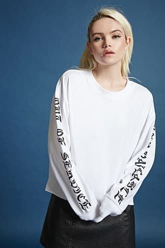 Out Of Service Graphic Top | FOREVER21 - 2000226118