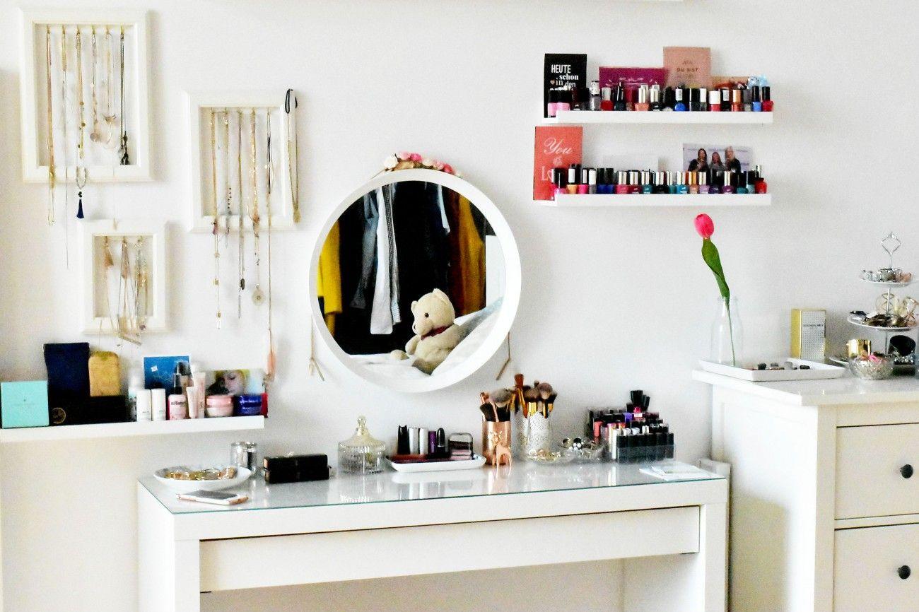 Homestory Schminkecke Ikea Malm Frisiertisch Make Up Fashionzauber