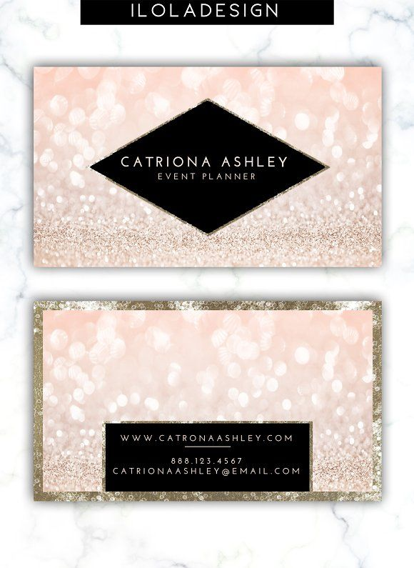 Pink glitter business card by iloladesign on creativemarket pink glitter business card by iloladesign on creativemarket colourmoves