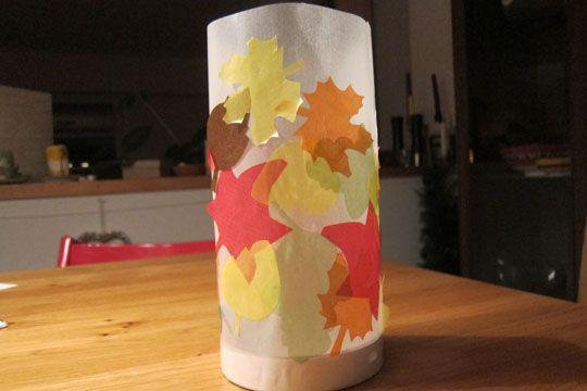 Einfache Laterne basteln: schnell & leicht - Tolle Idee für einen Kindergeburtstag im Herbst/Winter