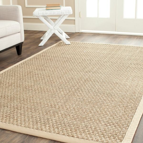 Safavieh Casual Natural Fiber Natural And Beige Border Seagrass