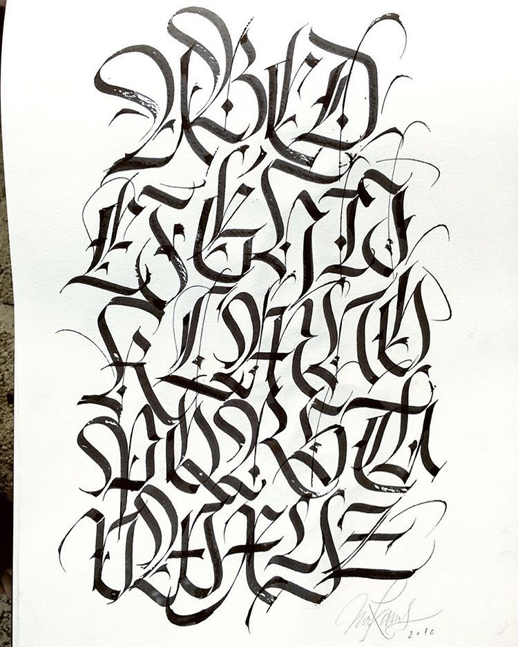 A other day another alphabet! This fraktur was in my Moleskine pad ...