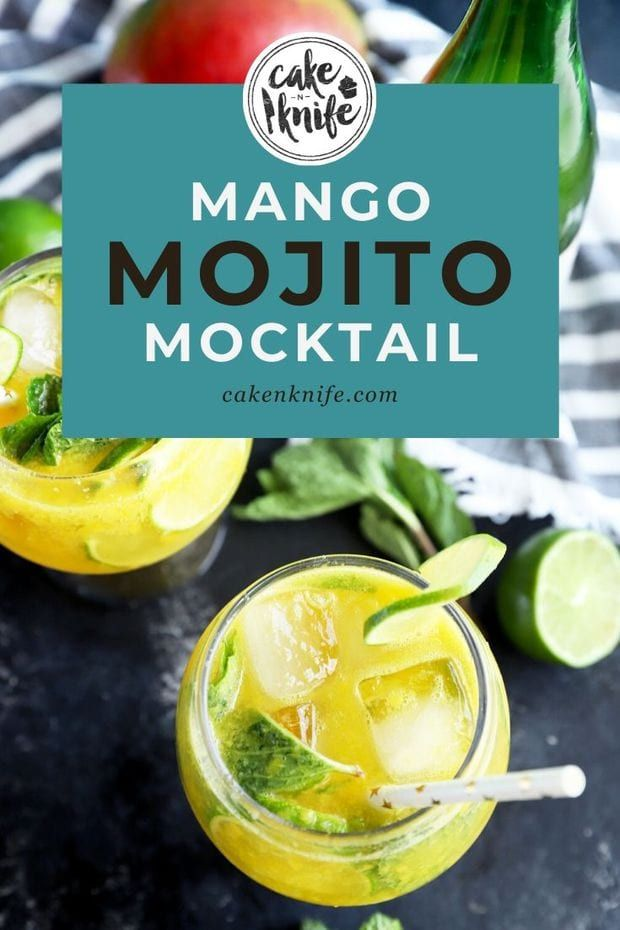 Easy Mango Mojito Mocktail Recipe Cake N Knife Recipe Mojito Mocktail Mango Mojito Mocktails