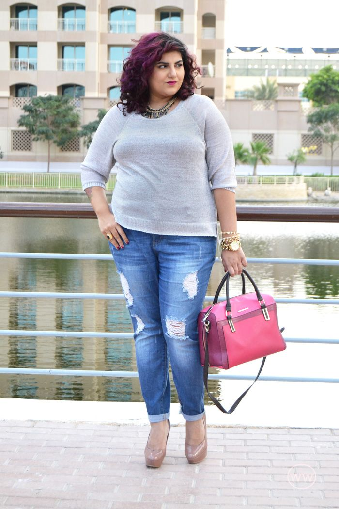 Weesha outfit h & m sweater, forever 21 plus size jeans, River ...