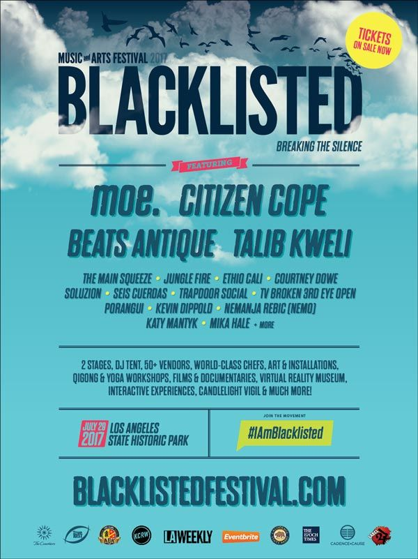 July 29, Los Angeles, featuring moe., Citizen Cope, Talib Kweli, Beats Antique, Jungle Fire, The Main Squeeze, Ethio Cali and more...
