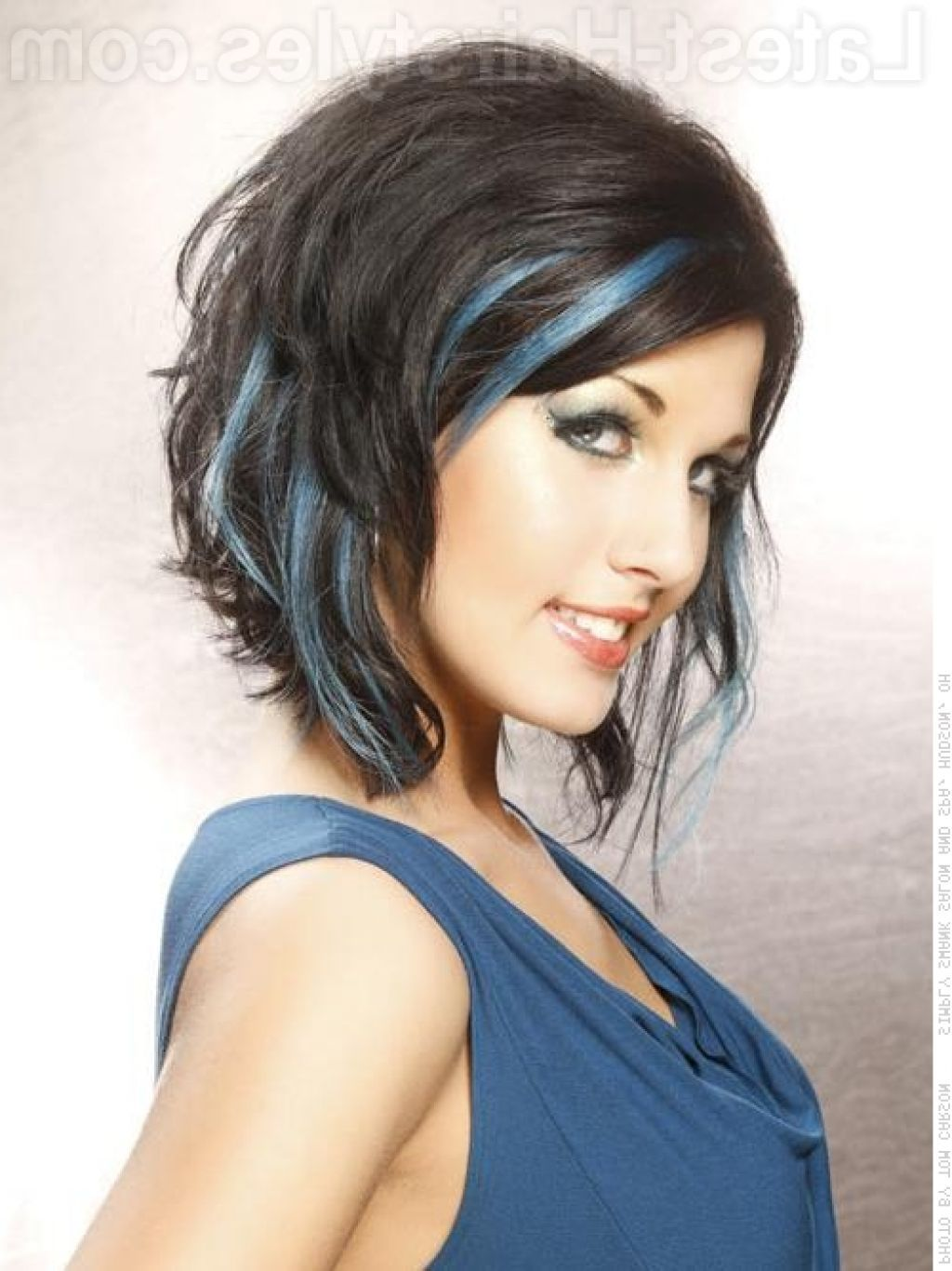 dark brown hair with blue highlights | beautiful long hairstyles