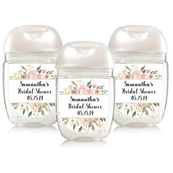Bridal Shower Favor Label Hand Sanitizer Label Baby Shower Favor