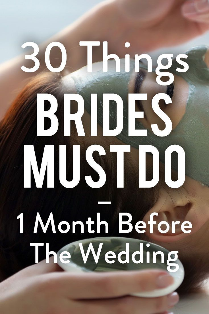 Find out the 30 things all brides must do in the 30 days leading…