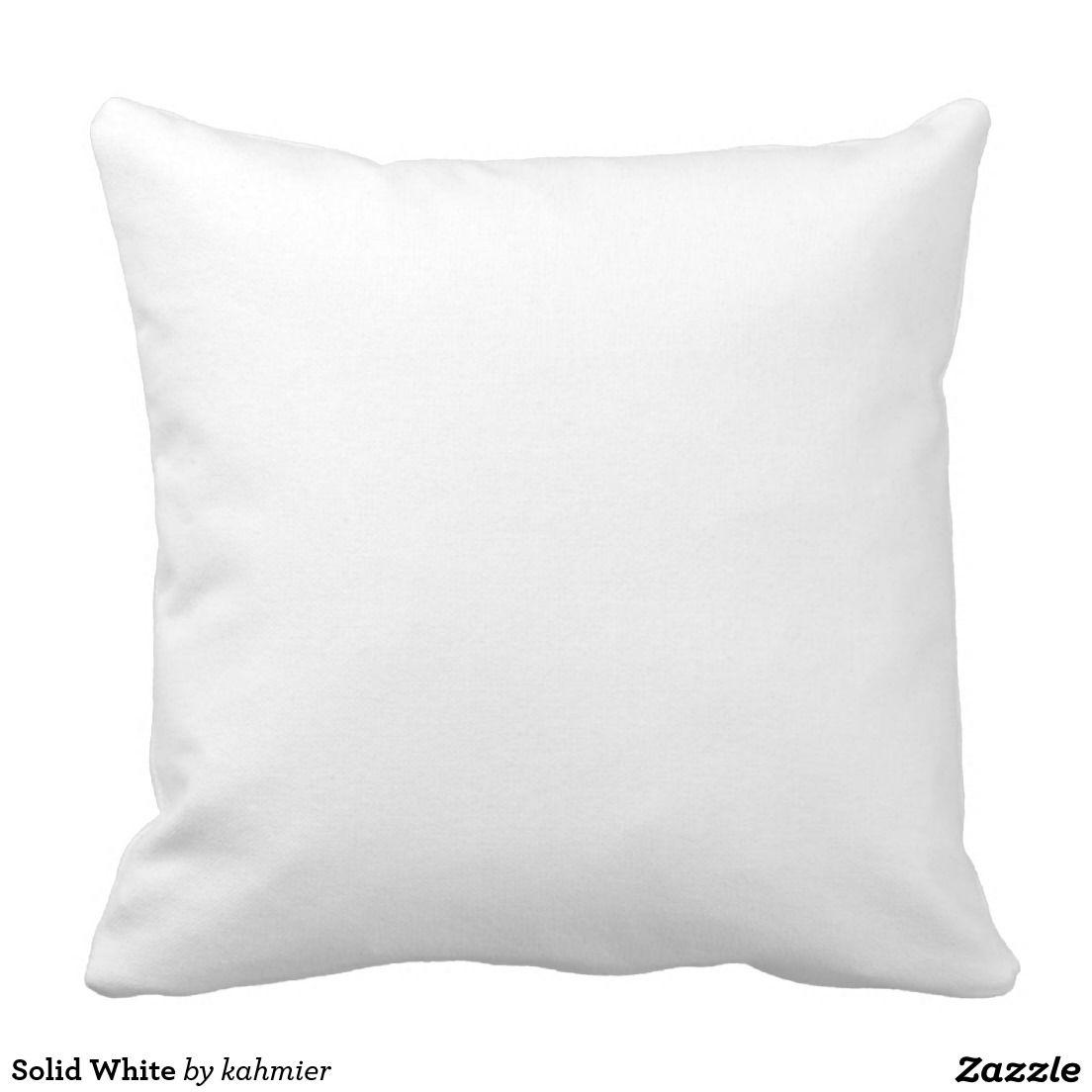Plain White Throw Pillow Zazzle Com White Throw Pillows Plain White Throw Pillows Throw Pillows