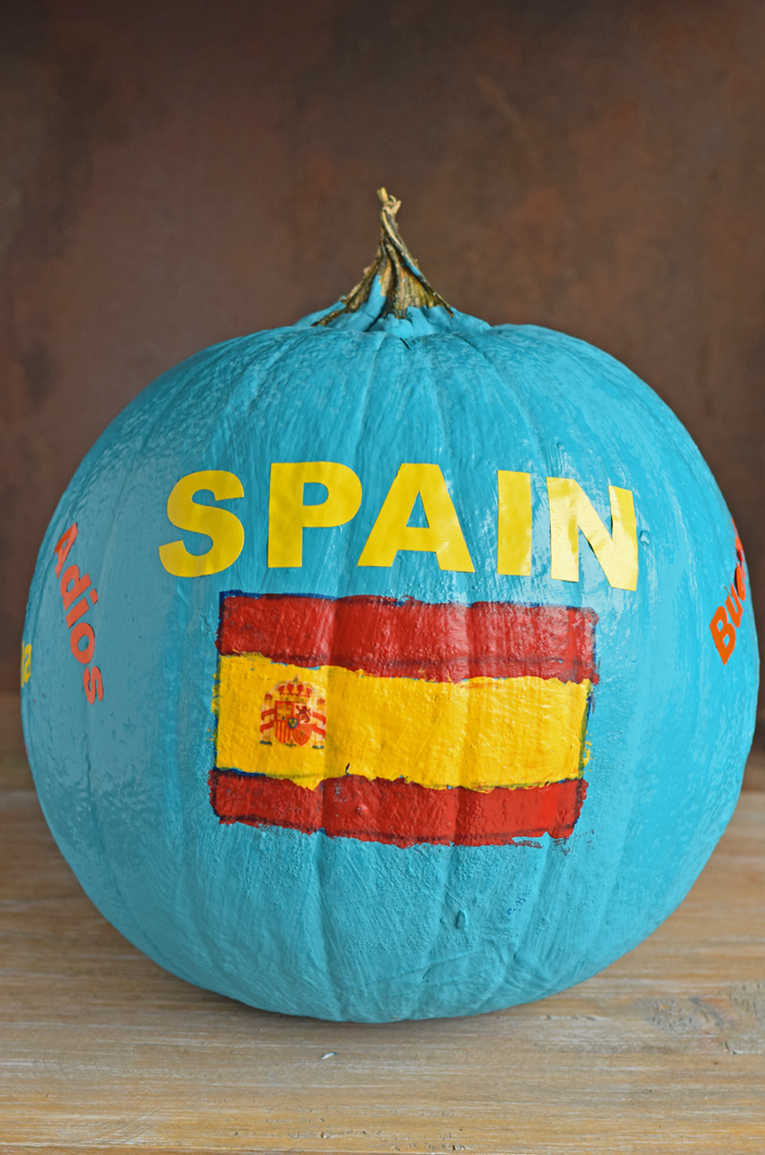Country Pumpkin School Project idea for Spanish class