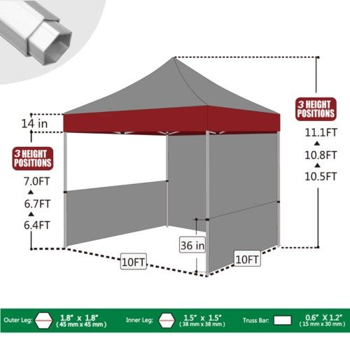 Eurmax Canopy Inc Pro 10 X 10 Ft Professional Trade Show Canopy Blue In 2020 Trade Show Booth Design Pop Up Canopy Tent Instant Tent