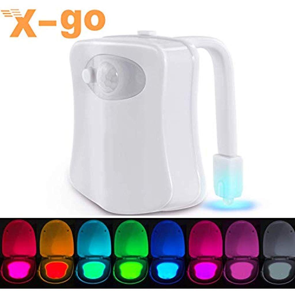 X Go Wc Beleuchtung Mit Bewegungsmelder Led Toilette Licht Wc Lampe Mit Bewegungssensor Batteriebetriebenes Licht Toilettenlicht To In 2020 Nachtlicht Nachtleuchte Led