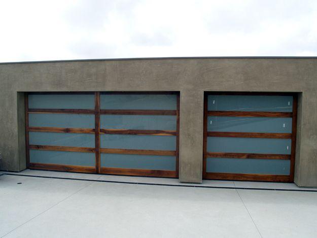 Modern White Garage Door modern contemporary garage doors. sleek modern teak garage door