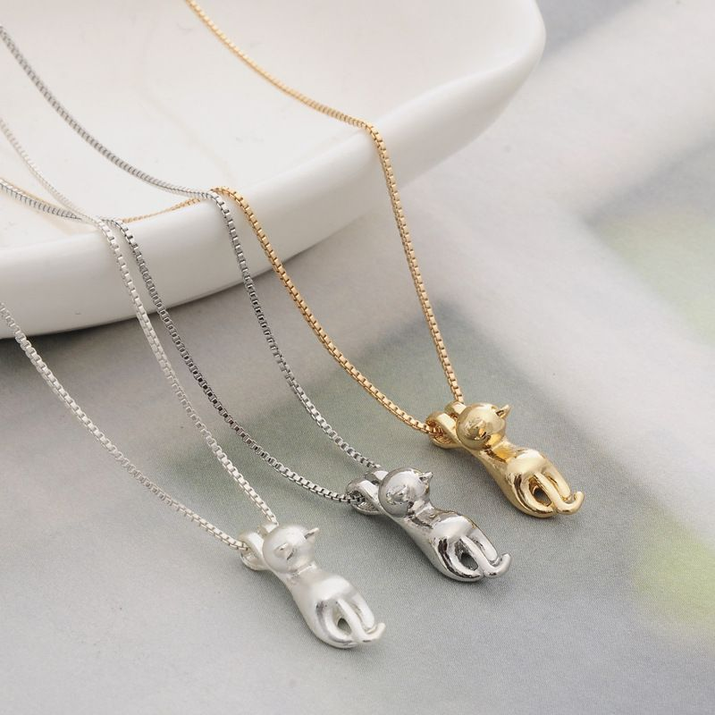 New fashion lovely silver necklace tiny cute cat pendants odd fancy new fashion lovely silver necklace tiny cute cat pendants odd fancy jewelry charm pendant necklace t4413 aloadofball