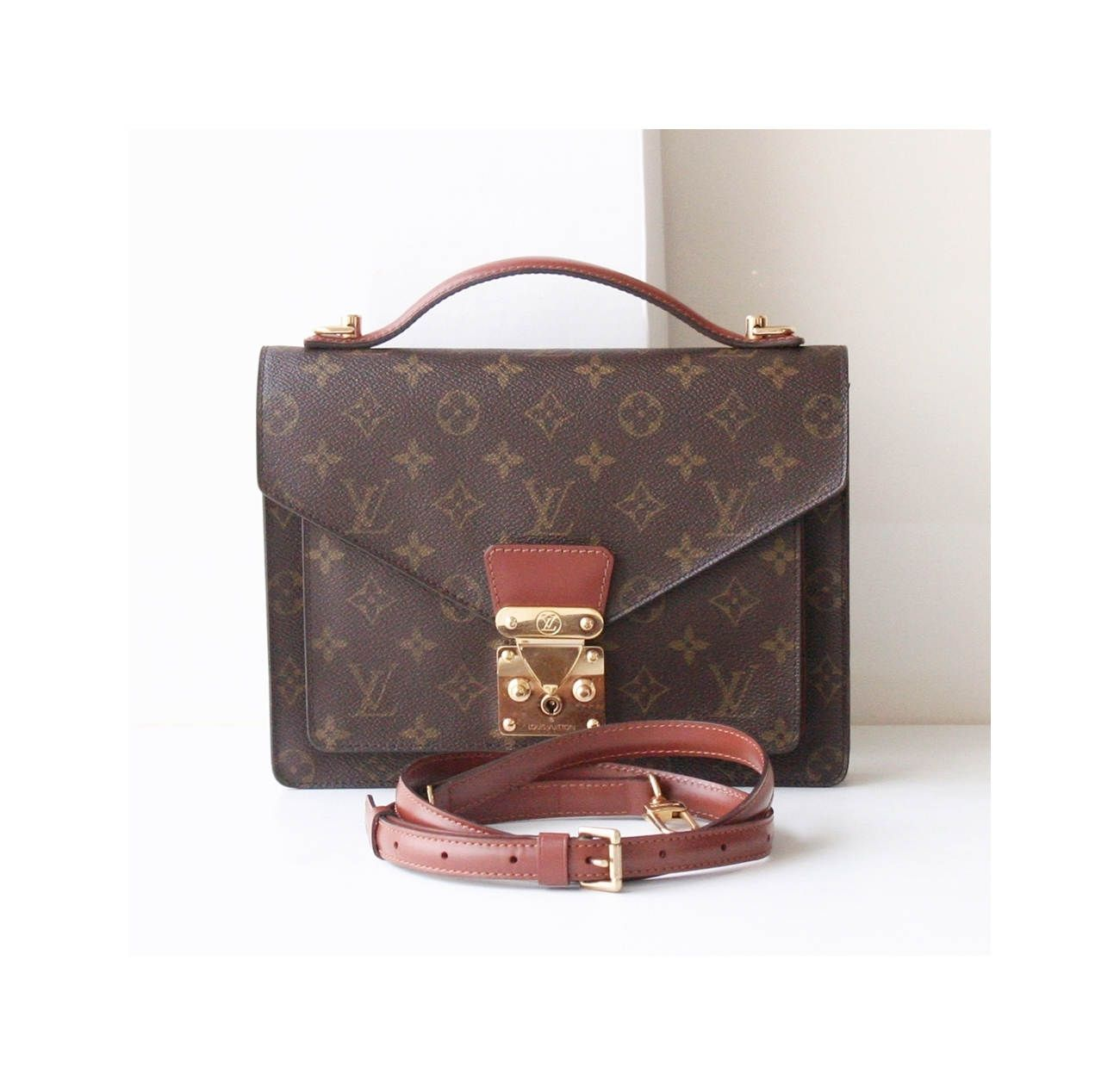 dbb4be6f347a Louis Vuitton Monogram Monceau Bag Authentic Vintage Brown handbag by hfvin  on Etsy  louisvuitton  lv  monceau  monogram  brown  handbag  hfvin