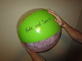 One Sunday I was thinking of something fun to do to review our songs and I happened to have this beach ball in my closet. Since it was ...