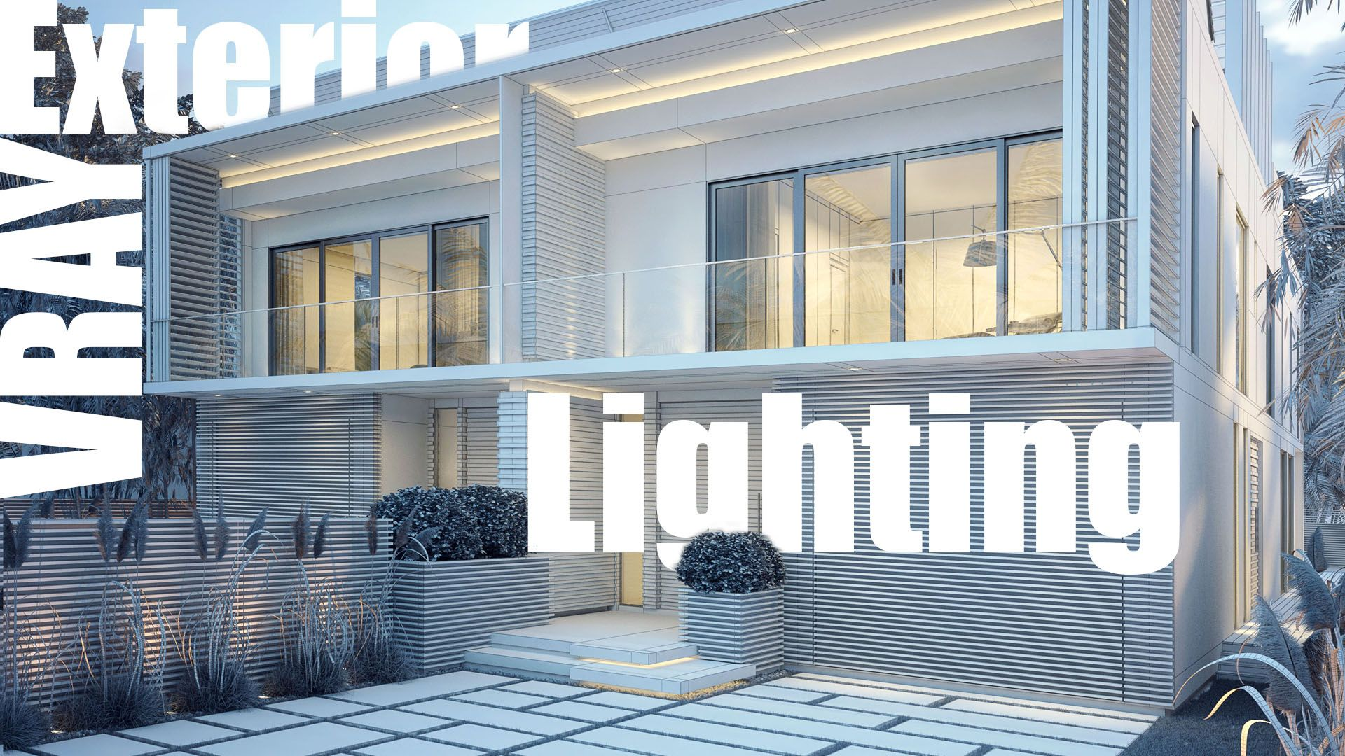 Vray exterior lighting & rendering video tutorial vray