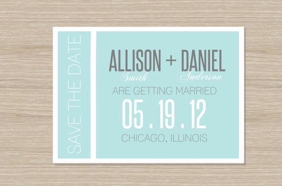 Save the Dates - could use this idea to inspire an MDS creation