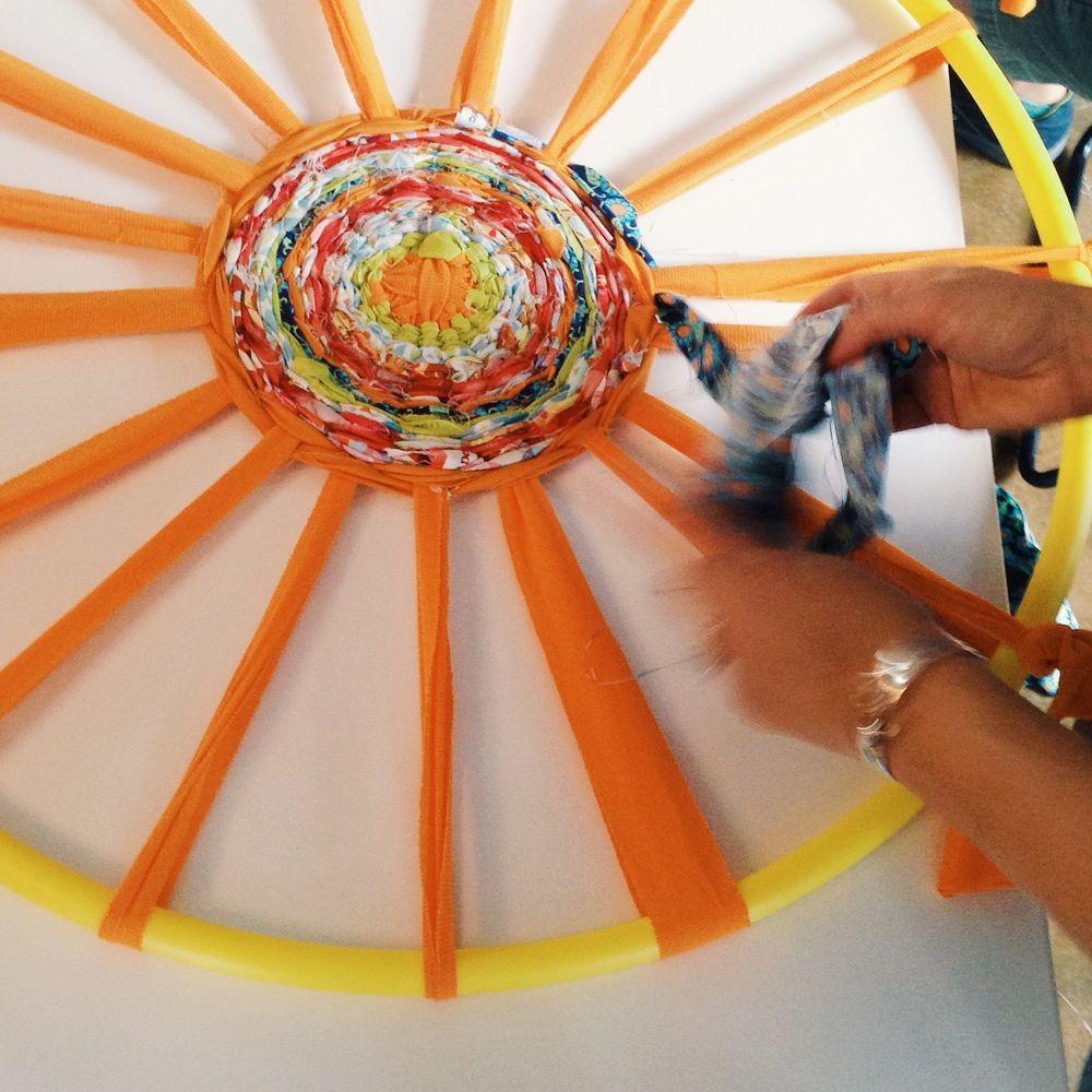 Hula Hoop Weaving Hula Hoop Weaving Weaving God S Eye Craft