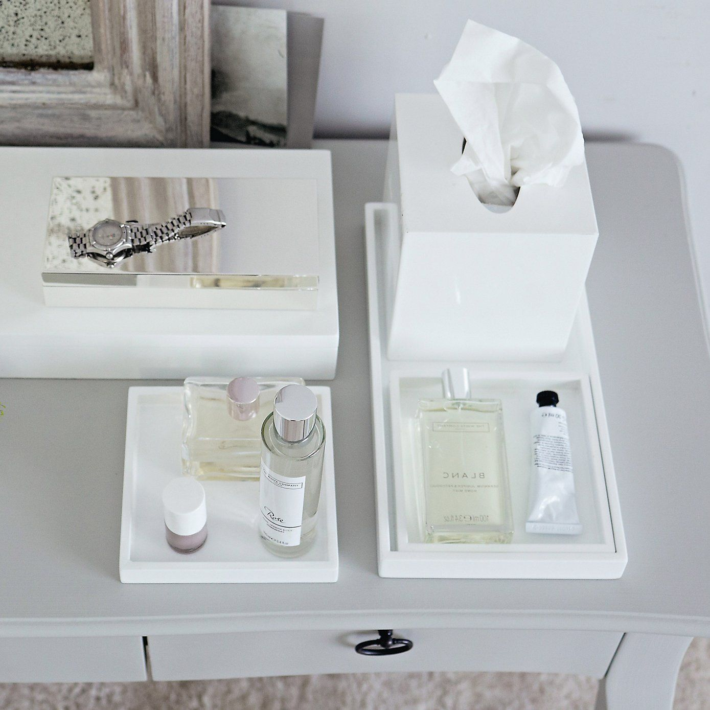 Lacquer Dressing Table Trays   Set Of 3 | The White Company