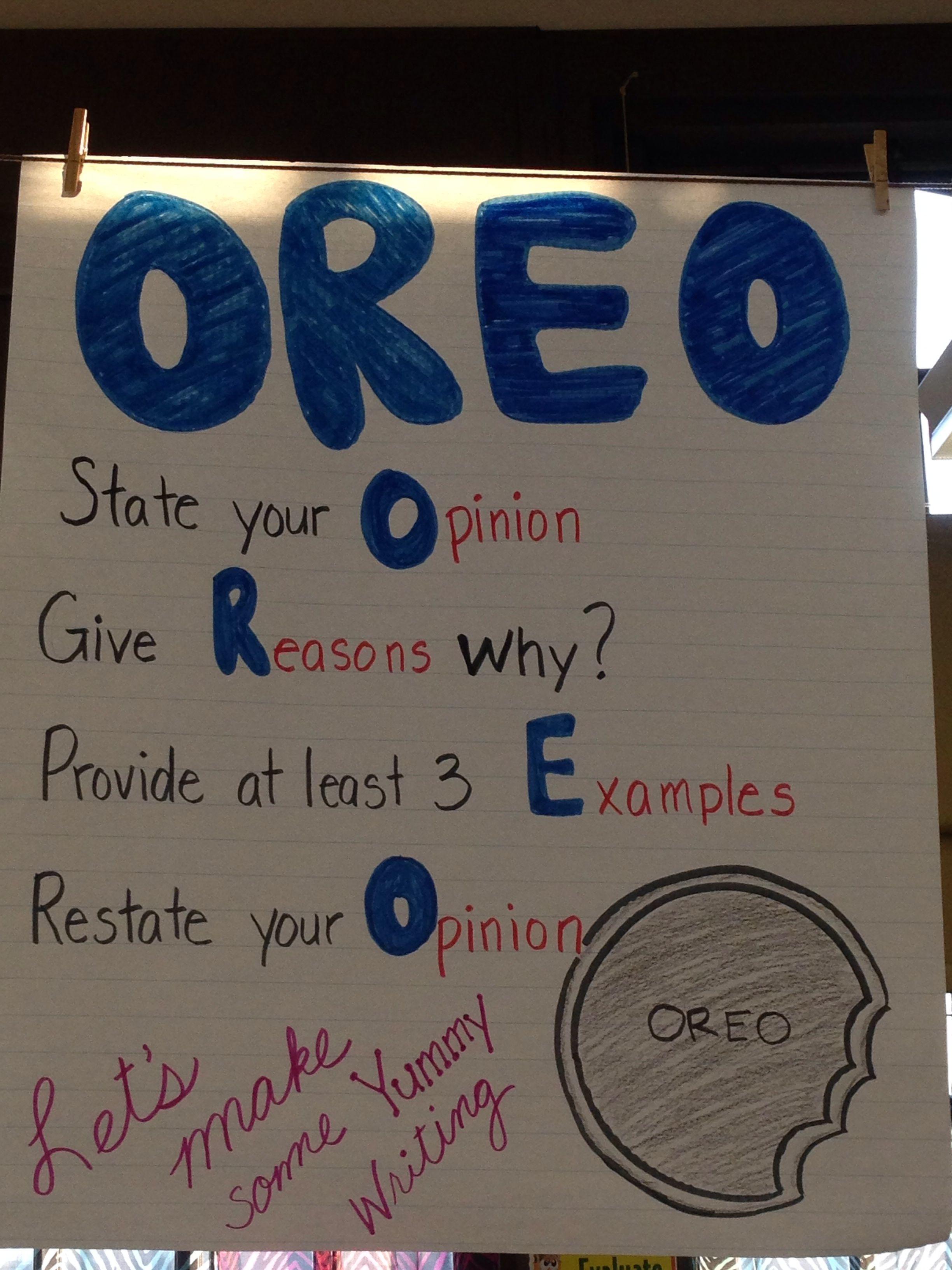 Oreo Chart
