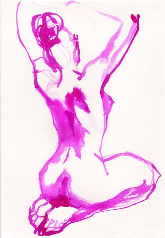 Neon Bather No. 1 (nude print)