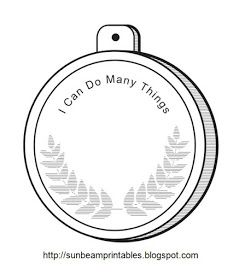 Sunbeam Printables: Medal for Lesson 22: I Can Do Many