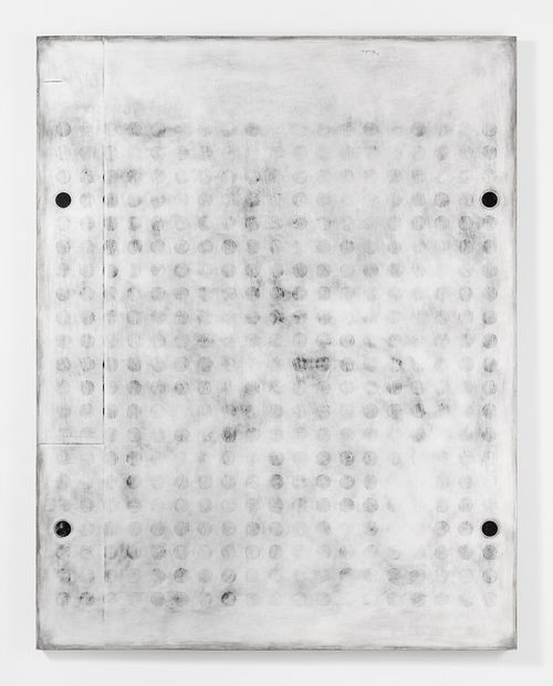 """UNTITLED_012 Plaster, gesso & lacquer on wood panel 72x56"""" / 182.8x142.2 Cm 2016"""