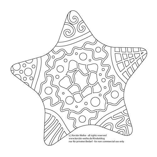 Malvorlage Schmuck Ein Stern Zum Ausmalen Kinder Blog