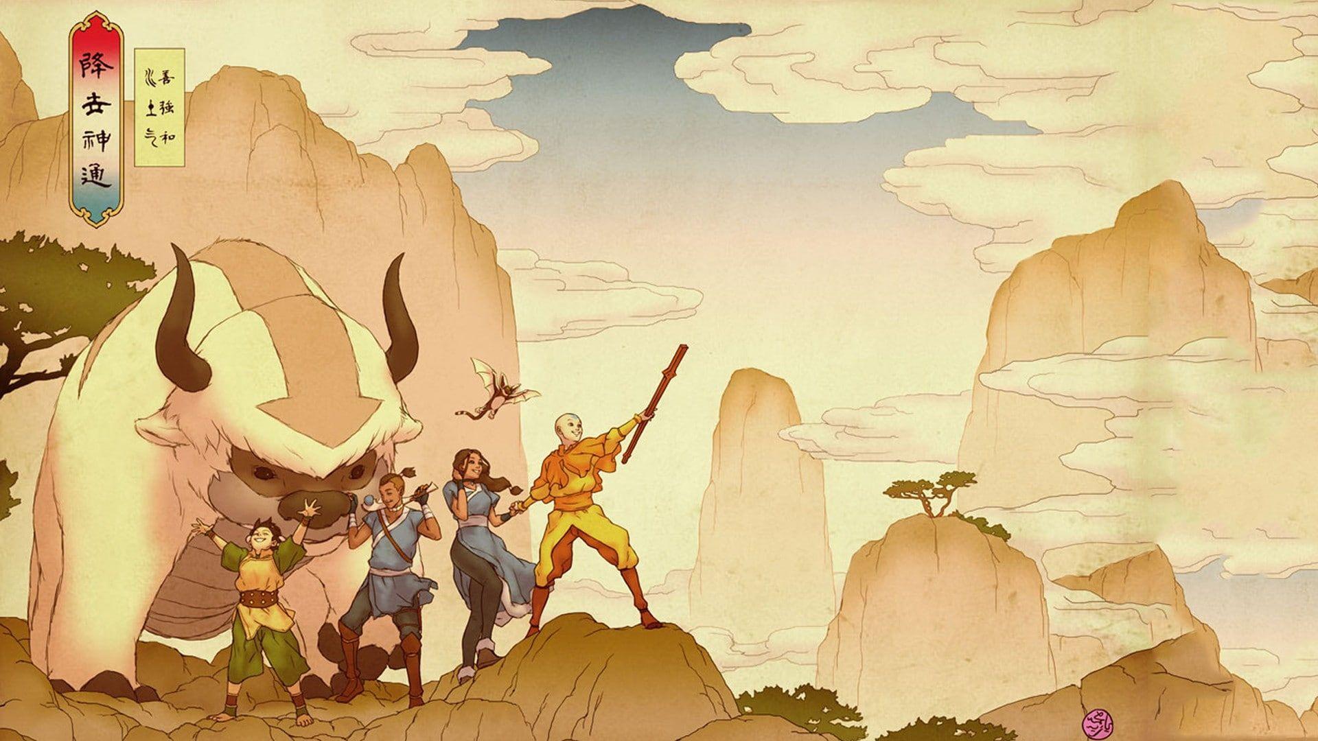 Avatar The Last Airbender 1080p Wallpaper Hdwallpaper Desktop In 2020 Avatar Airbender The Last Airbender Avatar Aang