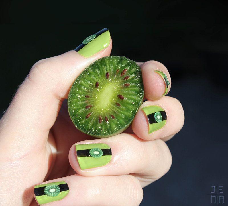 Kiwifruit Nails