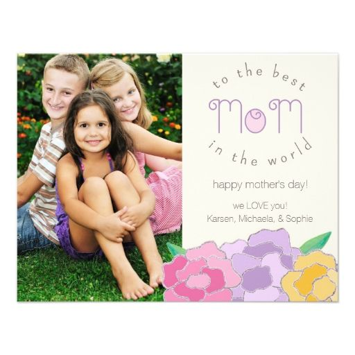 Precious Florals Happy Mother's Day Photo Card