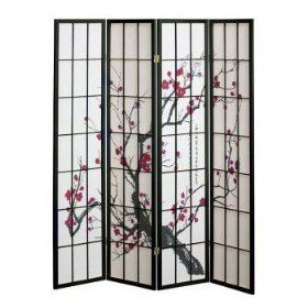 Amazoncom New Shoji Blossom Room Divider Screen Panel - Cherry blossom room divider screen