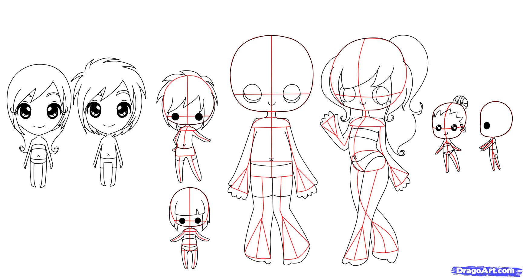 How To Draw Chibi Bodies Step By Step Chibis Draw Chibi Anime Draw Japanese Anime Draw Manga Free Online Drawing Chibi Body Cartoon Body Chibi Drawings